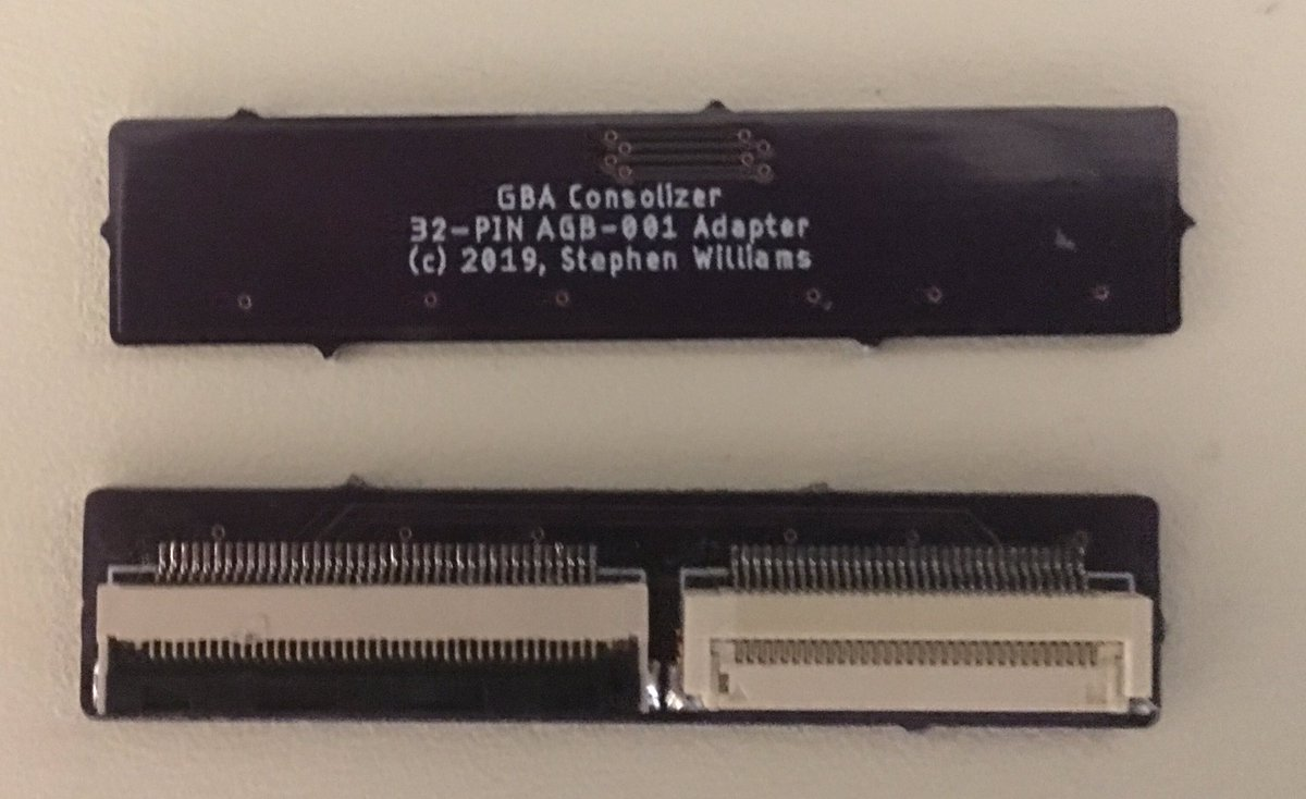 32-Pin Adapter created for the GBA Consolizer