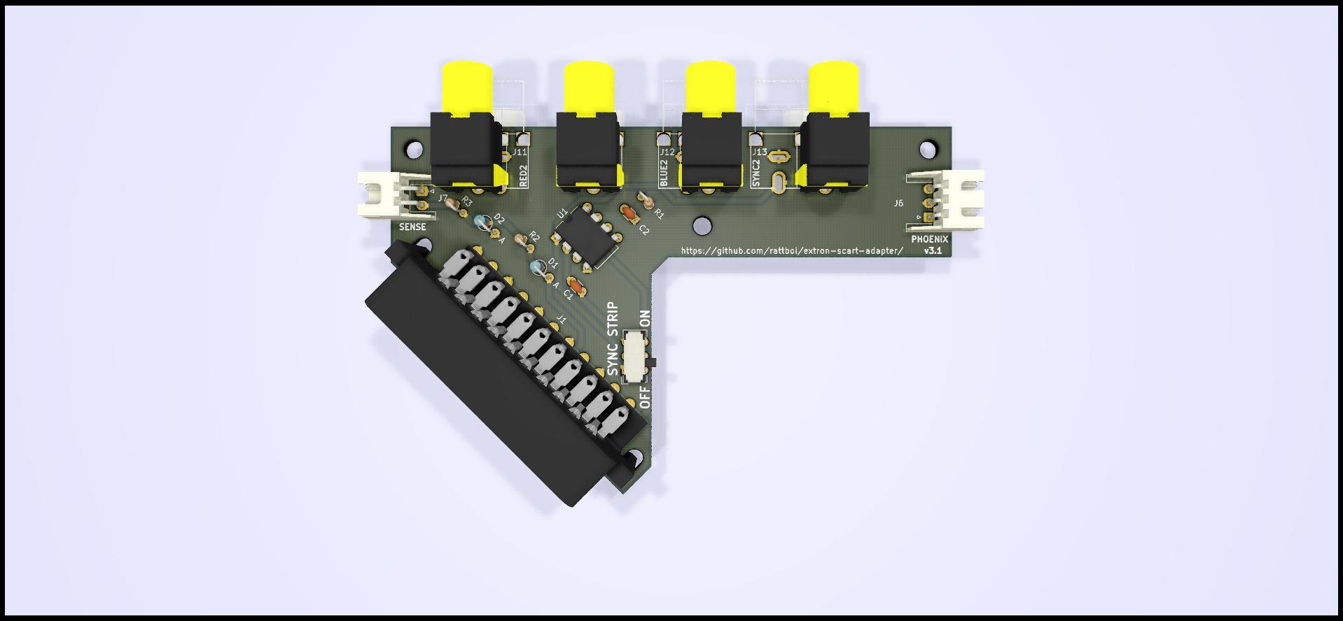 Extron SCART input/output Adapter PCB