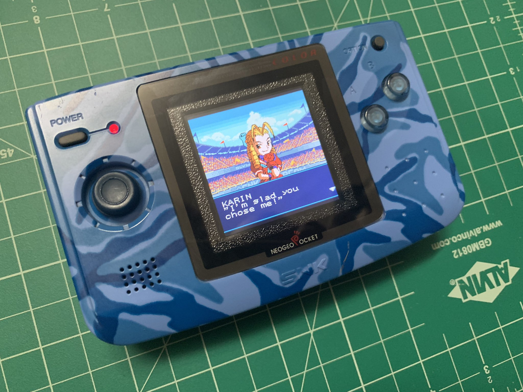 Neo Geo Pocket Color Replacement LCD Mask and retaining clip