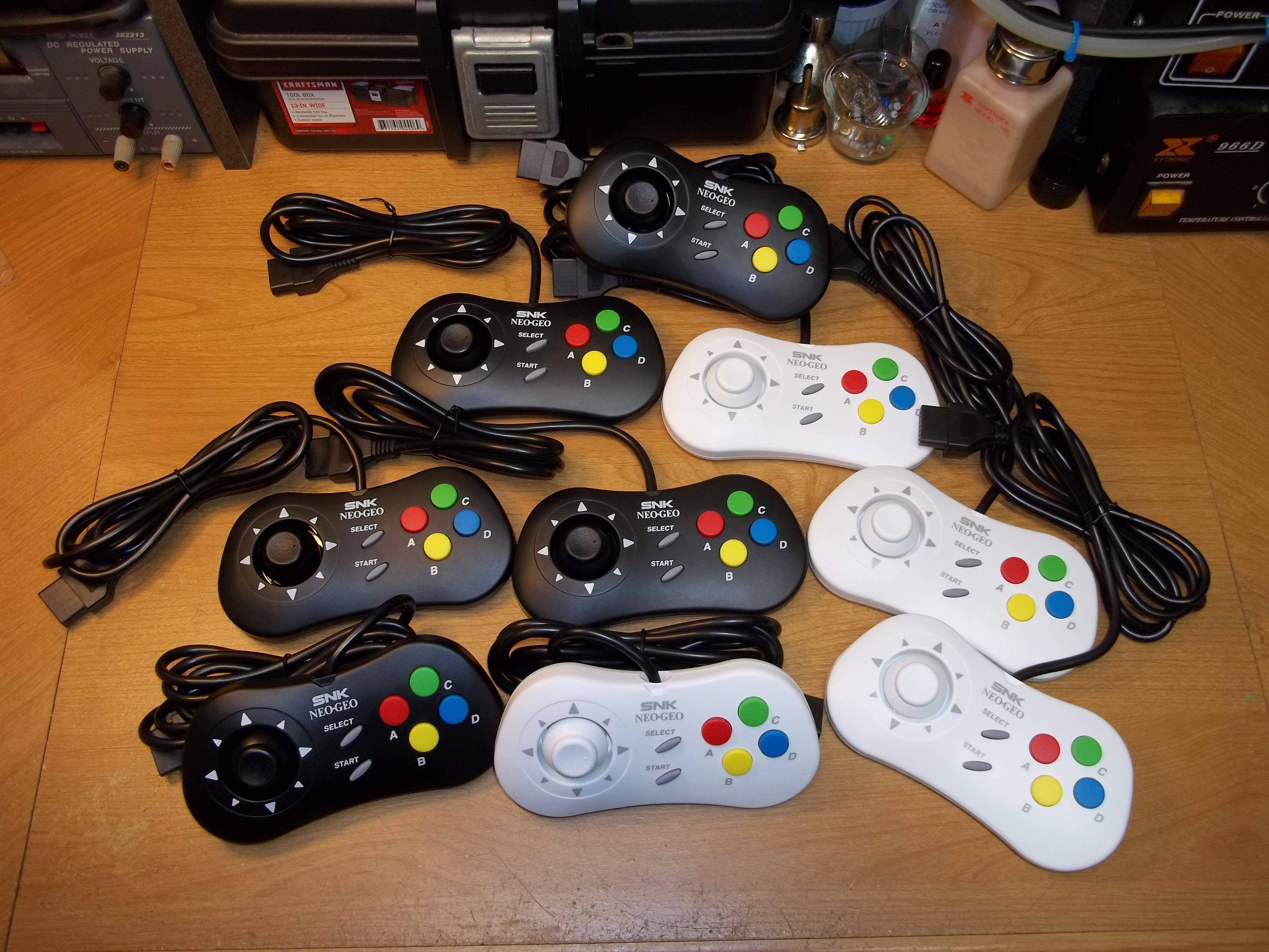Neo Geo Mini Controller Mod for Real Neo Geo & Clicky D-Pad