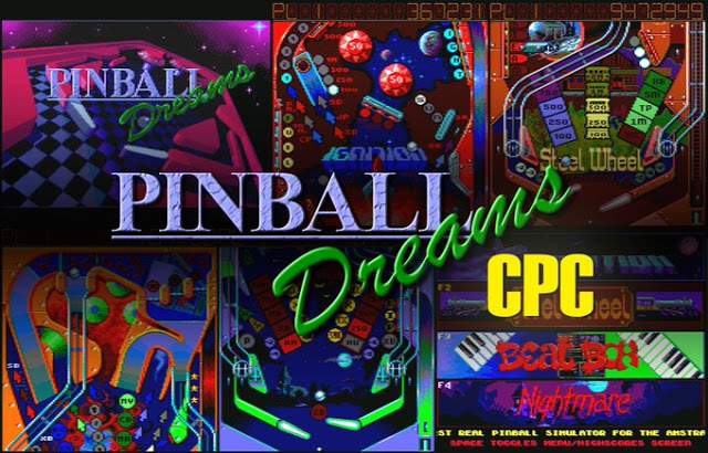 Pinball Dreams Available Now! For Amstrad CPC