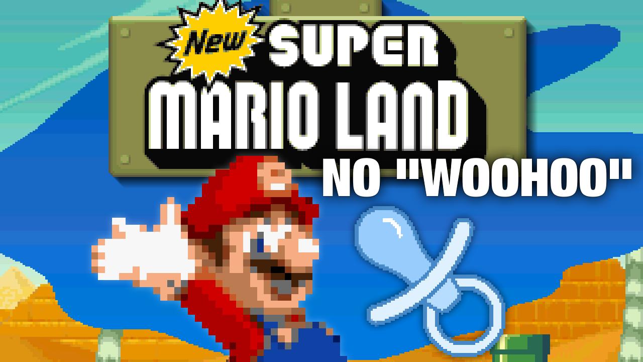 """New Super Mario Land (SNES) """"No Woohoo Sound Effect"""" Hack"""