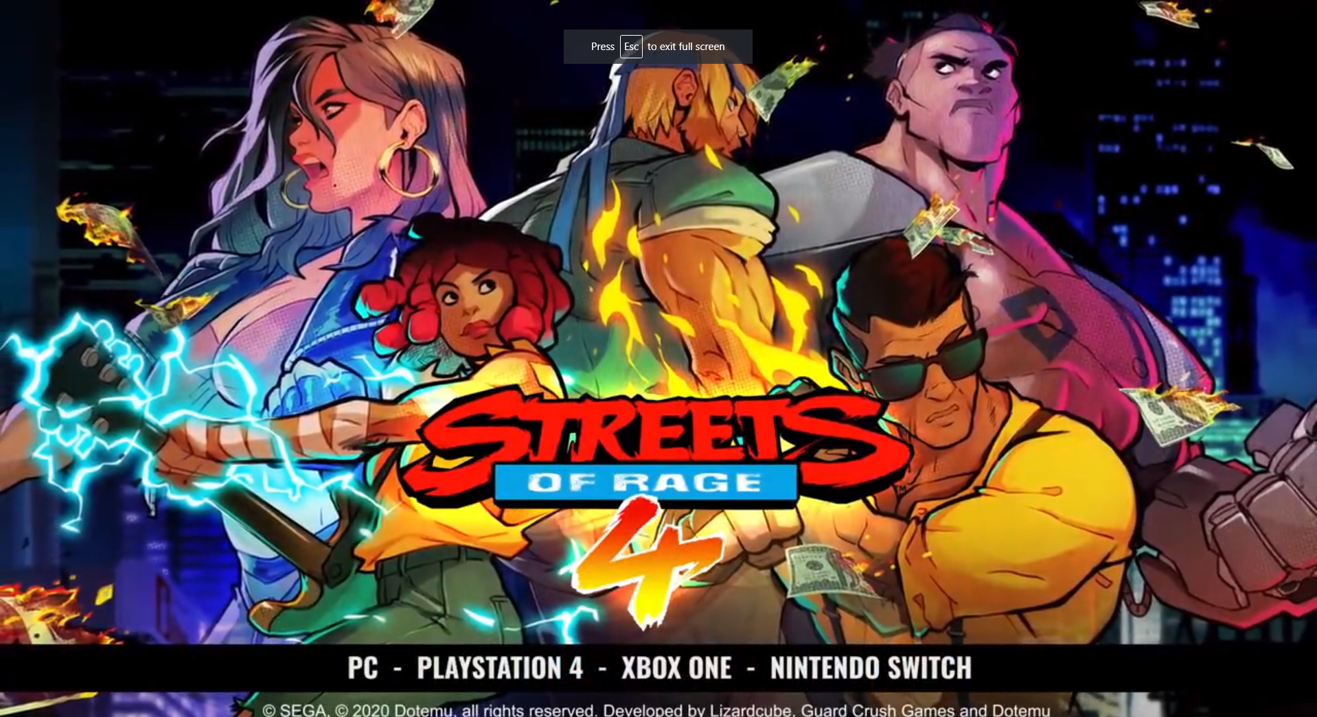 Streets of Rage 4 Adds New Character & 4 Player Co-op